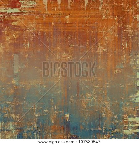 Vintage texture for background. With different color patterns: yellow (beige); brown; red (orange); blue