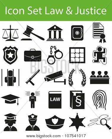 Icon Set Law And Justice
