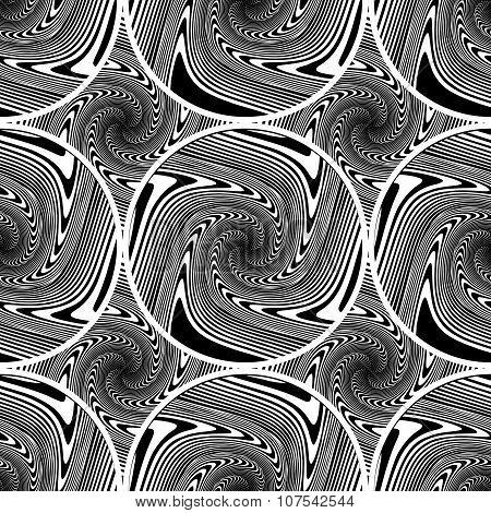 Design Seamless Monochrome Ellipse Background