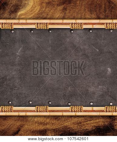 Leather Inserts In Bamboo Frame