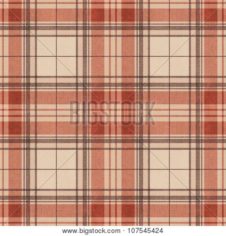 Seamless Pattern Scottish Tartan, Red, Black And  Yellow