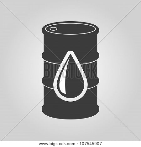The barrel icon. Cask and oil, gasoline, petrol, benzine symbol. Flat