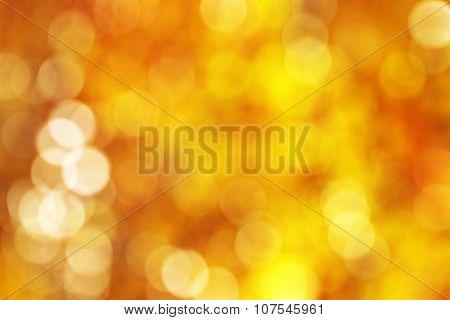 Abstact golden, yellow, orange circle bokeh background
