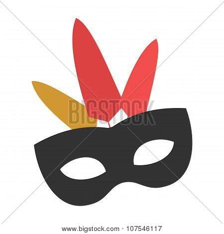 Carnival mask flat icon