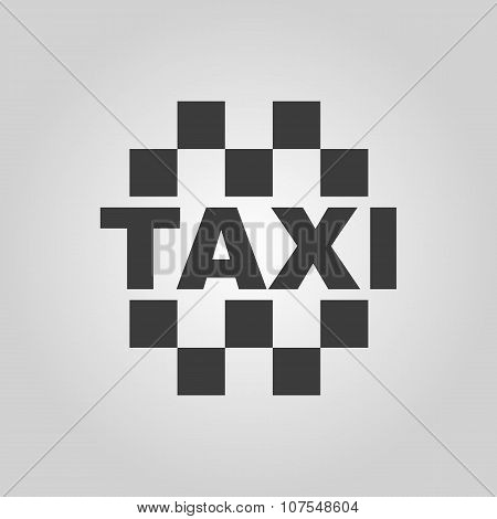 The taxi icon. Cab and taxicab symbol. Flat