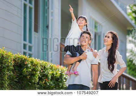 Beautiful Family Portrait Smiling