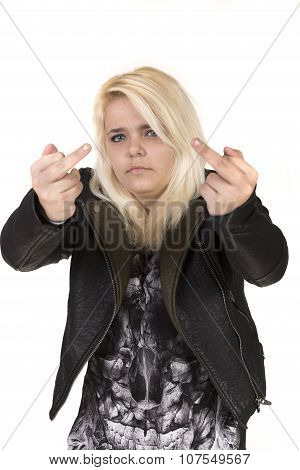 Teenage Girl Wearing A leather Jacket