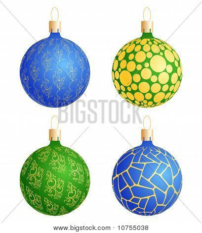 Christmas Balls With Pattern