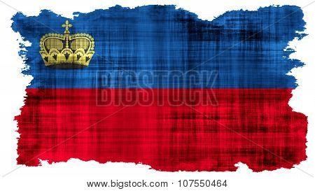 Flag of Liechtenstein painted on paper texture