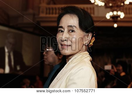 PRAGUE, CZECH REPUBLIC September 17 2013 - Opposition leader Aung San Suu Kyi had speech