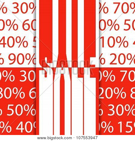 Sale poster. Vector illustration.