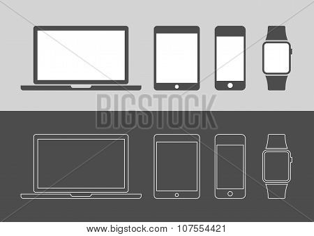 Display Devices Icons