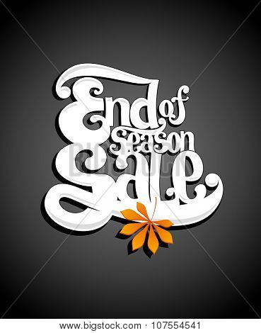 Typographic illustration end of season sale, rasterized version.
