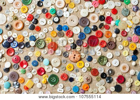 Sewing Buttons Background