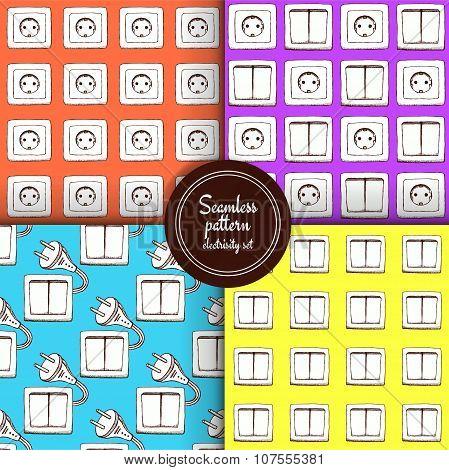Sketch Set  Of Seamless Patterns