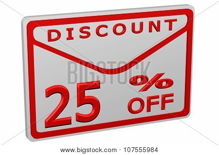 Envelope With Sign Discount 25 % Off