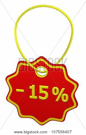 Discount - 15 % Tag