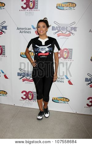 LOS ANGELES - NOV 7:  Eva Longoria at the Adrian Gonzalez's Bat 4 Hope Celebrity Softball Game PADRES Contra El Cancer at the Dodger Stadium on November 7, 2015 in Los Angeles, CA