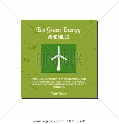 Nature banner, ecology poster with text for presentation, quotes. Eco organic labels and cards. Gree