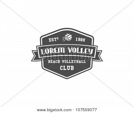 Volleyball label, badge, logo and icon. Sports insignia. Best for volley club, sport shops, sites or