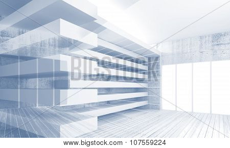 Abstract Modern Architecture Background, 3D Art