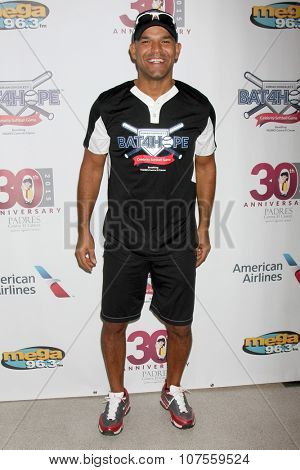 LOS ANGELES - NOV 7:  Amaury Nolasco at the Adrian Gonzalez's Bat 4 Hope Celebrity Softball Game PADRES Contra El Cancer at the Dodger Stadium on November 7, 2015 in Los Angeles, CA