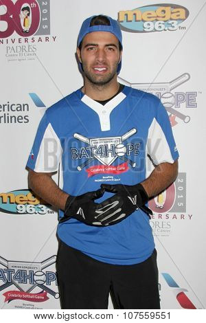 LOS ANGELES - NOV 7:  Jencarlos Canela at the Adrian Gonzalez's Bat 4 Hope Celebrity Softball Game PADRES Contra El Cancer at the Dodger Stadium on November 7, 2015 in Los Angeles, CA