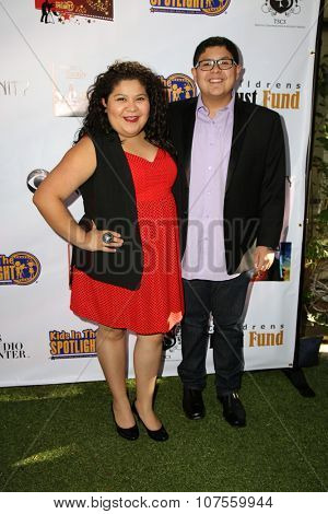 LOS ANGELES - NOV 7:  Raini Rodriguez, Rico Rodriguez at the Kids In The Spotlight's Movies By Kids, For Kids Film Awards at the Fox Studios on November 7, 2015 in Century City, CA