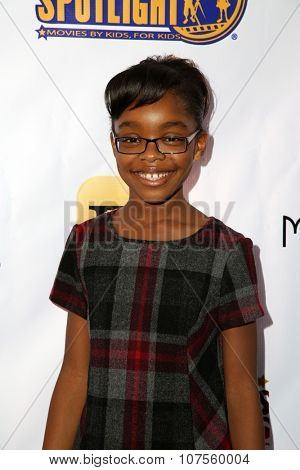 LOS ANGELES - NOV 7:  Marsai Martin at the Kids In The Spotlight's Movies By Kids, For Kids Film Awards at the Fox Studios on November 7, 2015 in Century City, CA
