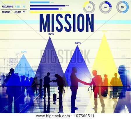 Mission Aim Aspiration Goal Inspiration Marketing Concept