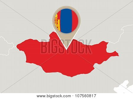 Mongolia On World Map