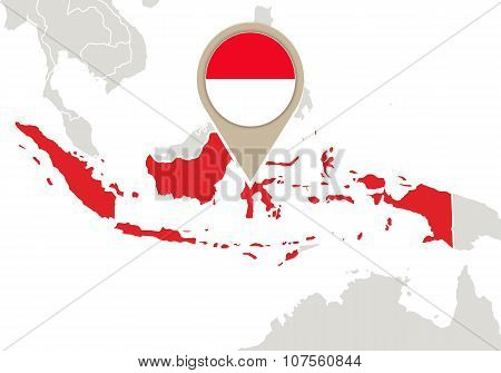Indonesia On World Map