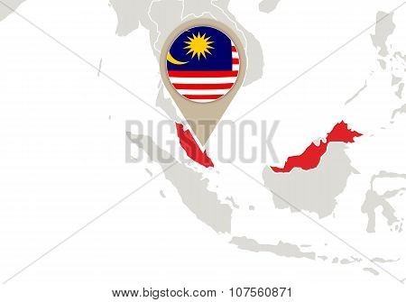 Malaysia On World Map