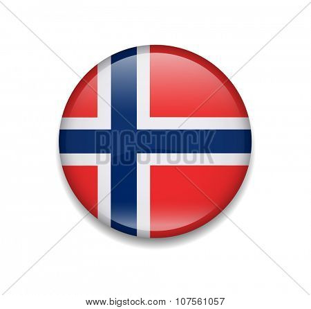Norway Button Flag