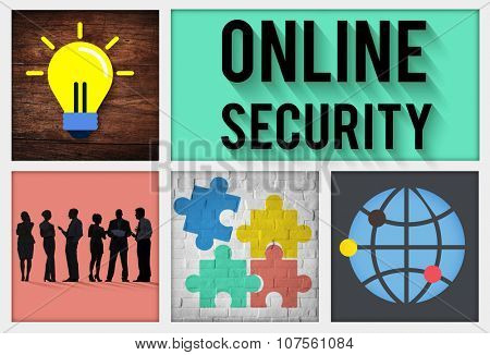Online Security Protection Privacy Data Concept