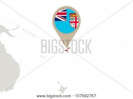 Fiji On World Map