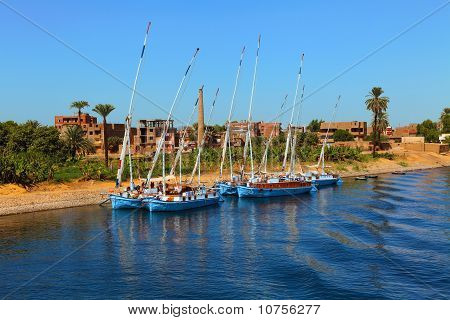 Boats on the Nile