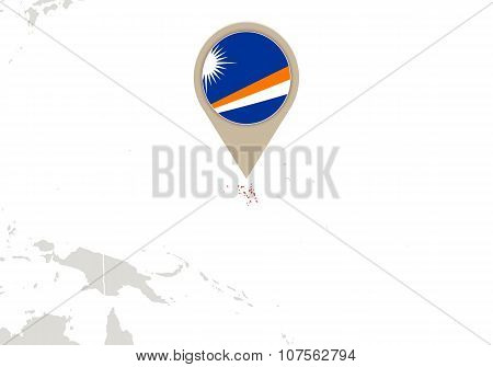 Marshall Islands On World Map