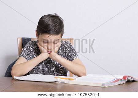 Young Boy Doing His Homework