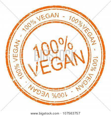 100% vegan rubber stamp