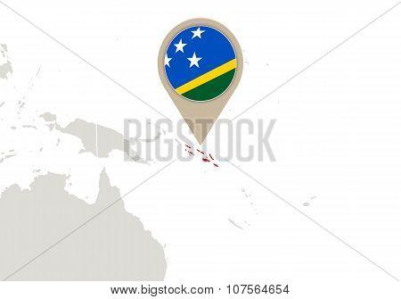 Solomon Islands On World Map