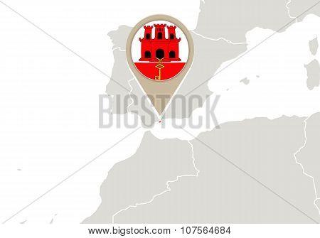 Gibraltar On World Map
