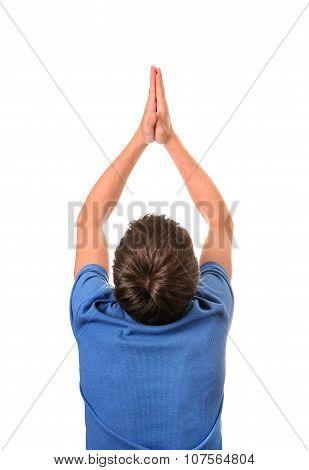 Man Praying Rear View