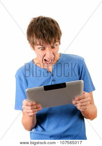 Angry Man With Tablet