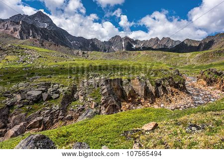 A Small Canyon In The Alpine Tundra