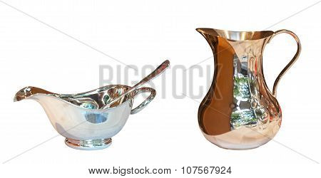 Gravy Boat Metal With Spoon