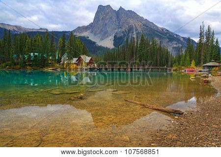 Emerald lake reflections