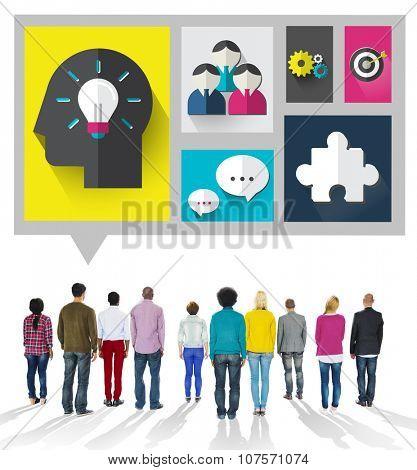 Brainstorm Brainstorming Sharing Teamwork Planning Concept