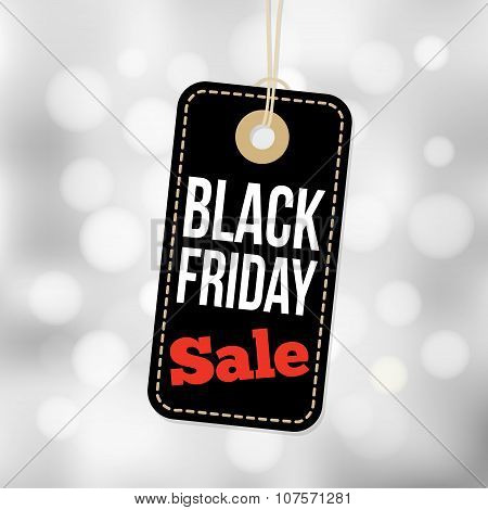 Black Friday Sale Tag, Label And Blurred Background, Business Vector