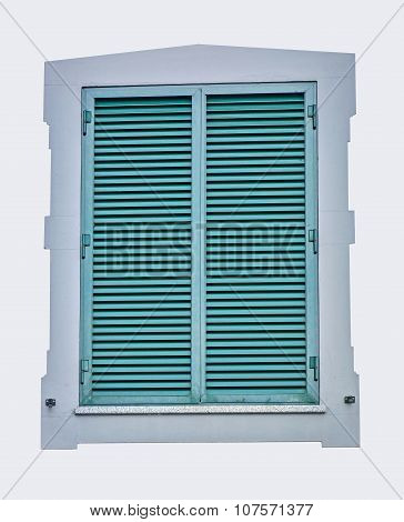 Window Shutter, Green